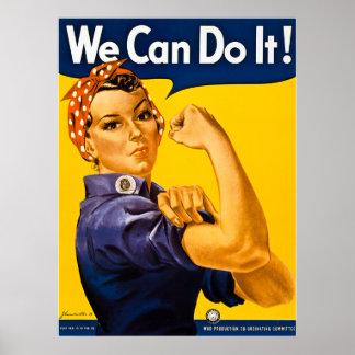 ¡Rosie el remachador podemos hacerlo!  Vintage WWI Póster