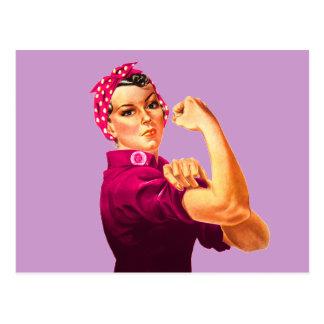 Rosie el remachador - rosa del cáncer postales