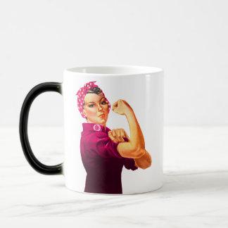 Rosie el remachador - rosa del cáncer taza mágica