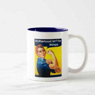 Rosie el remachador taza de café de dos colores