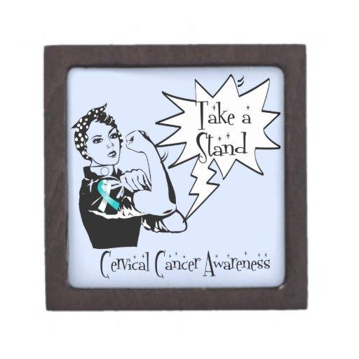 Rosie el remachador toma a soporte el cáncer de cu caja de joyas de calidad