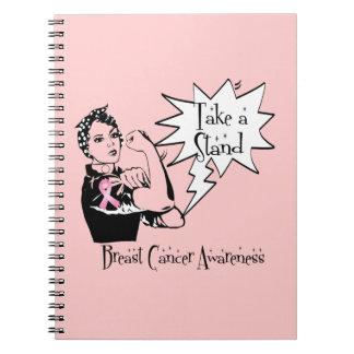 Rosie el remachador toma a un cáncer de pecho del  cuaderno