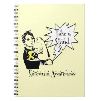 Rosie el remachador toma un sarcoma del soporte cuadernos