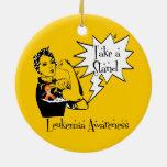 Rosie el remachador toma una leucemia del soporte ornamento de navidad