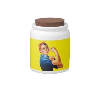 Rosie el tarro del caramelo del remachador jarras para caramelos