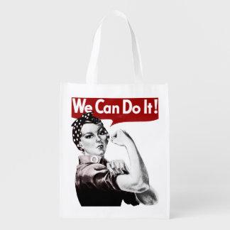 Rosie el ultramarinos reutilizable del remachador bolsa reutilizable