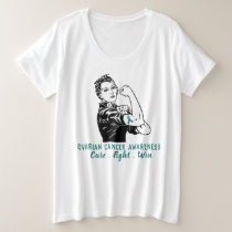 Rosie Fights Ovarian Cancer Plus Size T-Shirt