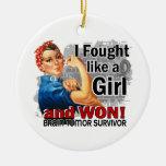 Rosie Fought Won Brain Tumor Survivor Christmas Ornament