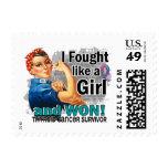 Rosie Fought Won Thyroid Cancer Survivor.png Postage