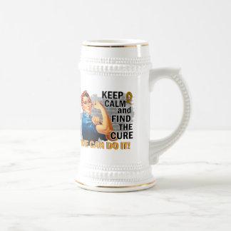 Rosie guarda al cáncer tranquilo del apéndice taza de café