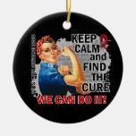 Rosie guarda el SIDA tranquilo Ornaments Para Arbol De Navidad