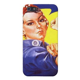 ¡Rosie icónico el texto WCDI del remachador! Caso iPhone 5 Fundas
