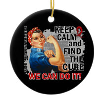 Rosie Keep Calm AIDS Ceramic Ornament