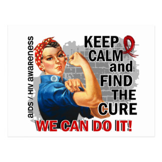 Rosie Keep Calm AIDS Postcard