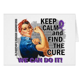 Rosie Keep Calm Alzheimer's Greeting Card