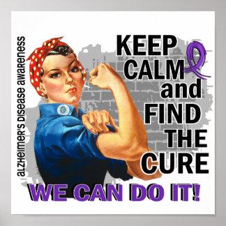 Rosie Keep Calm Alzheimer's Poster