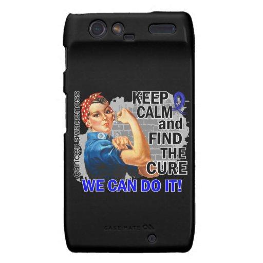 Rosie Keep Calm Anal Cancer Motorola Droid RAZR Cover