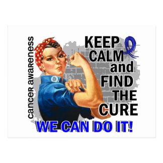 Rosie Keep Calm Anal Cancer Postcard
