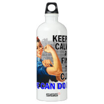Rosie Keep Calm Anal Cancer Water Bottle