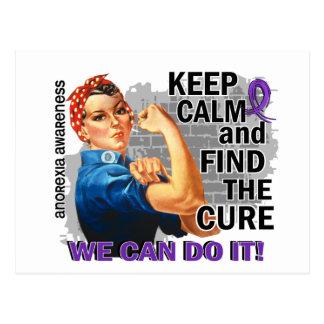 Rosie Keep Calm Anorexia Postcard