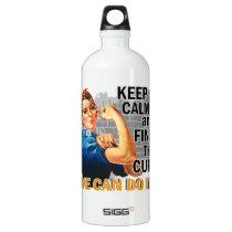 Rosie Keep Calm Appendix Cancer Aluminum Water Bottle