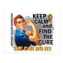 Rosie Keep Calm Appendix Cancer Postcard