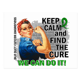 Rosie Keep Calm Bile Duct Cancer.png Postcard