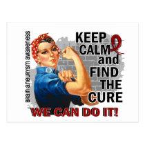 Rosie Keep Calm Brain Aneurysm.png Postcard