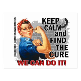 Rosie Keep Calm Carcinoid Cancer.png Postcard