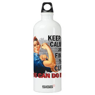 Rosie Keep Calm Diabetes.png Water Bottle