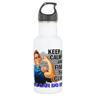 Rosie Keep Calm EDS.png 18oz Water Bottle