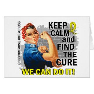Rosie Keep Calm Endometriosis.png Greeting Card