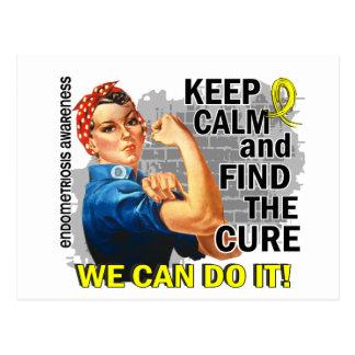 Rosie Keep Calm Endometriosis.png Postcard