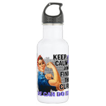 Rosie Keep Calm Esophageal Cancer.png Water Bottle