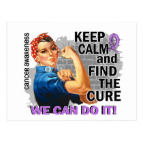 Rosie Keep Calm General Cancer.png Postcard