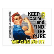 Rosie Keep Calm Hydrocephalus.png Postcard