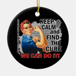 Rosie Keep Calm J Diabetes.png Double-Sided Ceramic Round Christmas Ornament