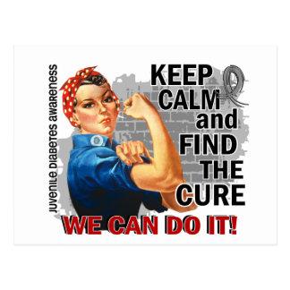 Rosie Keep Calm J Diabetes.png Postcard