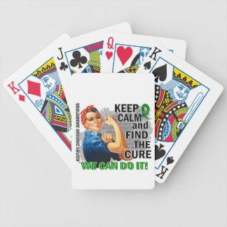 Rosie Keep Calm Kidney Disease.png Bicycle Playing Cards
