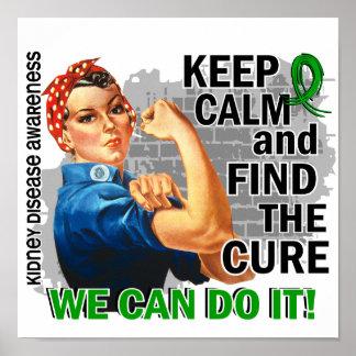 Rosie Keep Calm Kidney Disease png Print