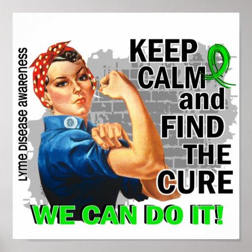 Rosie Keep Calm Lyme Disease.png Poster