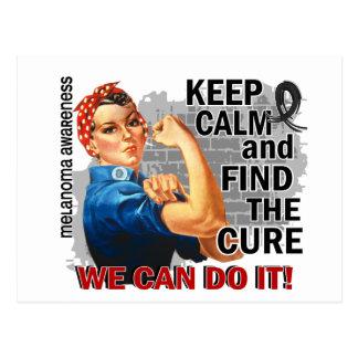 Rosie Keep Calm Melanoma.png Postcard