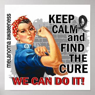 Rosie Keep Calm Melanoma.png Posters