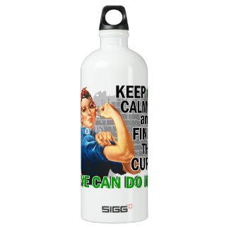 Rosie Keep Calm Mental Health.png Aluminum Water Bottle
