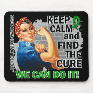 Rosie Keep Calm Mental Health.png Mouse Pad
