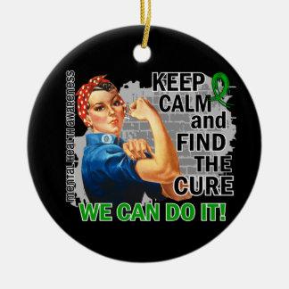 Rosie Keep Calm Mental Health.png Christmas Tree Ornaments