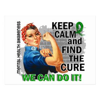 Rosie Keep Calm Mental Health.png Postcard