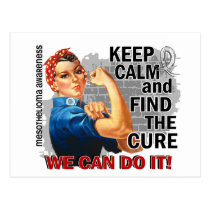 Rosie Keep Calm Mesothelioma.png Postcard