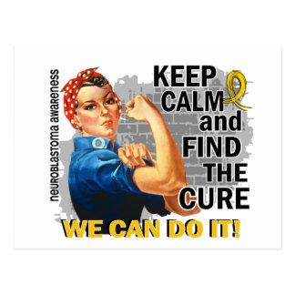Rosie Keep Calm Neuroblastoma.png Postcard