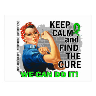 Rosie Keep Calm NH Lymphoma.png Postcard